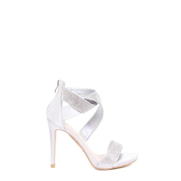 Knotted Rhinestone High-Heel Sandal