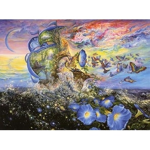 ''Andromeda's Quest'' by Josephine Wall Fantasy Art Print (24 x 36 in.)
