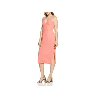 BCBGeneration Womens Cocktail Dress V Neck Racerback