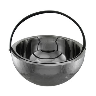 Polished Stainless Steel Round Beverage Bucket Chiller Bowl with Handle