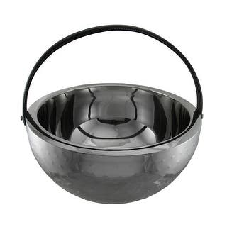 Polished Stainless Steel Round Beverage Bucket Chiller Bowl with Handle|https://ak1.ostkcdn.com/images/products/is/images/direct/5403f0963ea7f9ad2d34f7f630698effa3735281/Polished-Stainless-Steel-Round-Beverage-Bucket-Chiller-Bowl-with-Handle.jpg?impolicy=medium