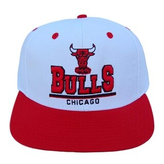 NFL Chicago Bulls White Red Snapback 3D Letters Hat - white/red
