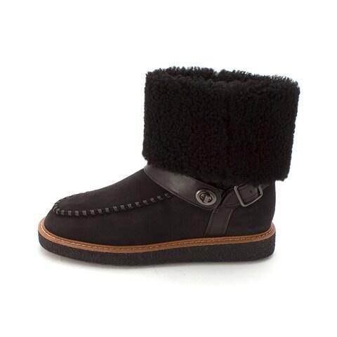 Coach Womens Moto shrl boot Closed Toe Ankle Fashion Boots
