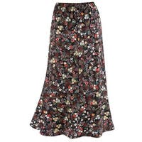 "Catalog Classics Women's Confetti Flowers Traveler Skirt - Floral Print 32"" Long"