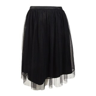 City Chic Women's Trendy Plus Size Pleated A-Line Skirt - Black
