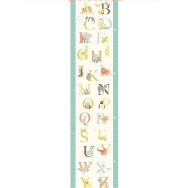 Shop Wallpops Wpg0839 Abc Jungle Growth Chart Wall Decals Free