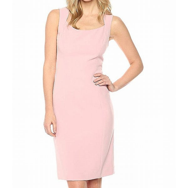 d729446d Shop Kasper Blush Gold Pink Womens Size 16 Sleeveless Sheath Dress ...