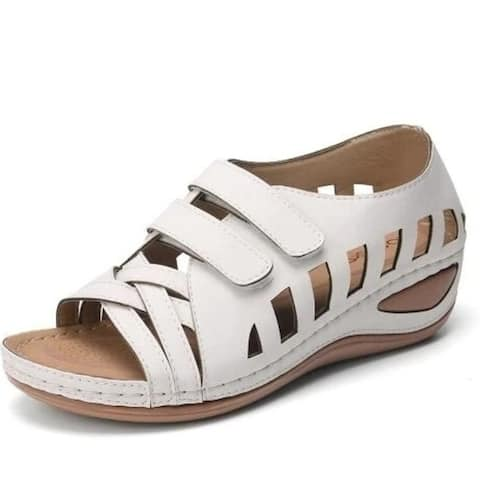 Women's Sandals Fashion Wedges Platform Summer Ladies Shoes Soft Casual Beach Comfortable, 6 Colors