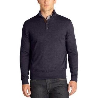 Polo Ralph Lauren Merino Wool Mock Neck Sweater Navy Blue XX-Large - 2Xl