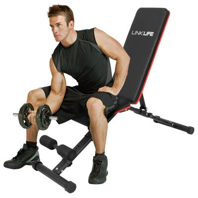 Drago Foldable Weight Bench Full Body Workout, Cushioned, w/Safety Pin - N/A