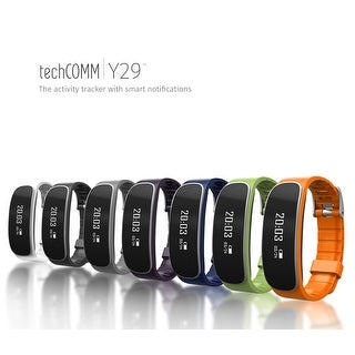 TechComm Y29 Fitness Tracker Band with Heart Rate Monitor Call & Text (Option: Green)