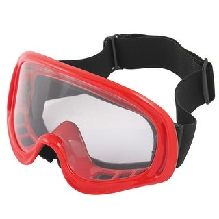 Red Anti Dust Fog Full Frame Motorcycle Safety Ski Sports Goggles Eyewear