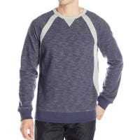Nautica NEW Blue Mens Size Medium M Colorblock Crewneck Sweater