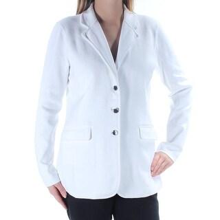 RALPH LAUREN $165 Womens New 1408 White Blazer Wear To Work Jacket XS B+B