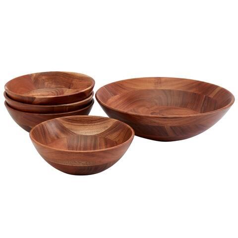 Mason Craft & More 5PC Acacia Wood Salad Serving Set