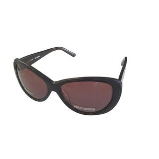 Harley Davidson Womens Sunglass Plastic Tortoise Cateye, Brown Lens HDX 839 - Medium