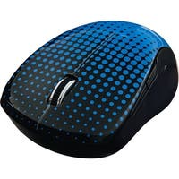 Verbatim Wireless Multi-Trac Blue LED Mouse, 99747, Dot Pattern, Blue