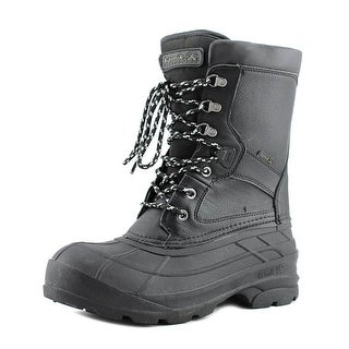Kamik Nation Pro Men  Round Toe Leather Black Snow Boot