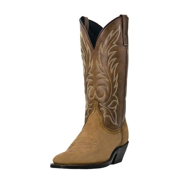 Laredo Western Boots Womens Leather Kadi Cowboy Distressed Tan