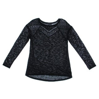 Sanctuary Womens Linen Embroidered Pullover Top