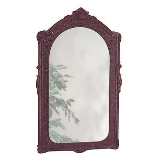 Vintage Vanity Mirror Bathroom Wall Mount Cherry Urethane  | Renovator's Supply
