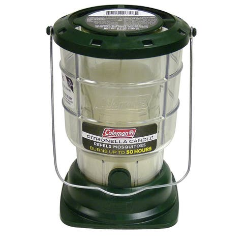 Coleman 7708 Citronella Candle Lantern, Repels Mosquitoes, 50 Hour Burn Time