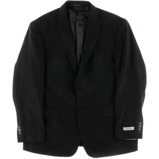 Calvin Klein Mens Sportcoat Textured Two-Button Blazer