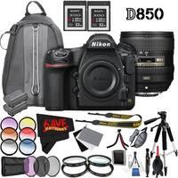 Nikon D850 DSLR Camera (Body Only) 1585 International Model + Nikon AF-S NIKKOR 24-85mm f/3.5-4.5G ED VR Lens Bundle