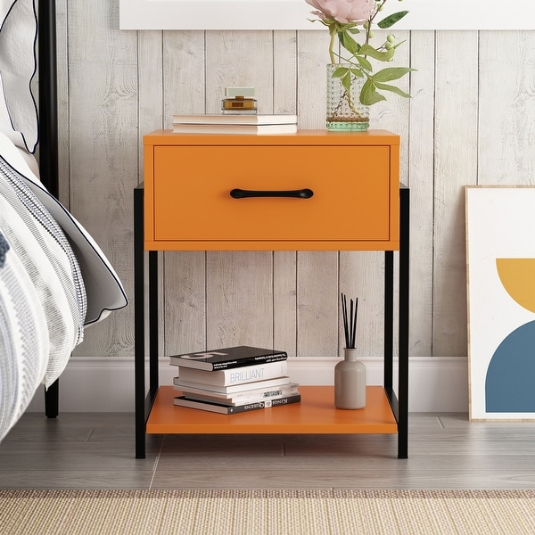 1-drawer Modern Nightstand. Opens flyout.