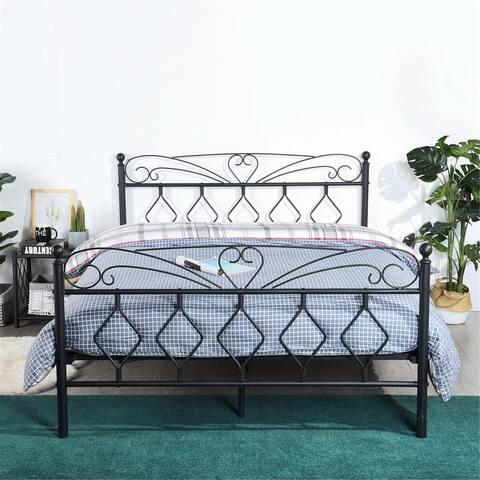 Furniture R Full Platform Black Bed
