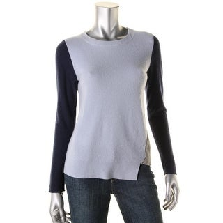 Private Label Womens Cashmere Colorblock Pullover Sweater