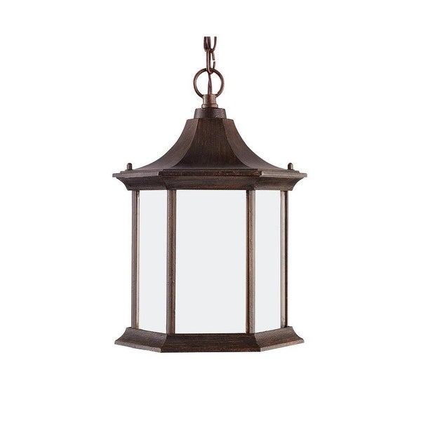Sea Gull Lighting 69136BLE08 1-Light Ardsley Court Outdoor Pendant Rust Patina - patina finish