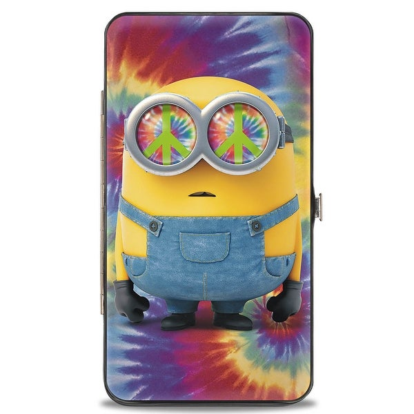 Hippie Minion Pose Tie Dye Multi Color Hinged Wallet - One Size Fits most