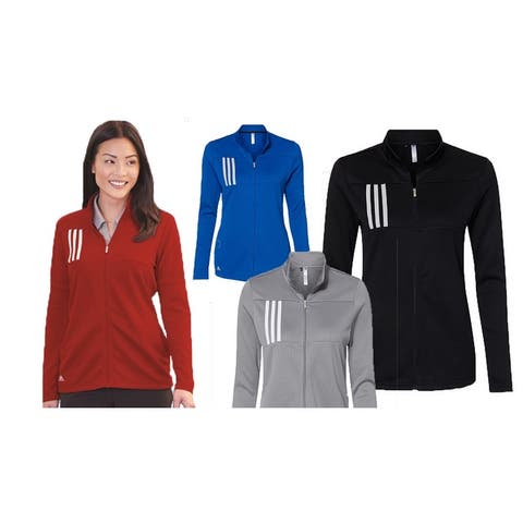 Adidias Women's 3 Stripes Double Knit Full-Zip