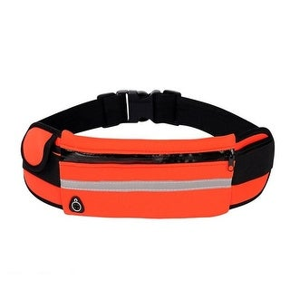 Running Belt and Travel Pack for Jogging, Cycling and Outdoors with Water Resistant Pockets (Orange – Neoprene – 1)