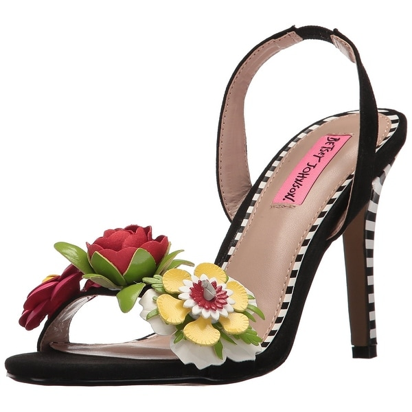 Betsey Johnson Womens Brena Open Toe Special Occasion Slingback Sandals