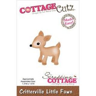 "Critterville Little Fawn 1.3""X1.5"" - Cottagecutz Die"