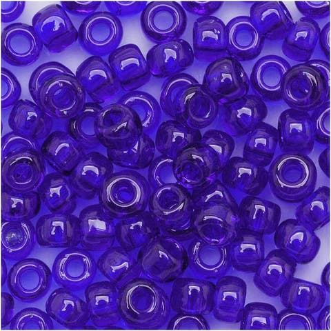 Toho Round Seed Beads 6/0 8 Transparent Cobalt 8 Gram Tube