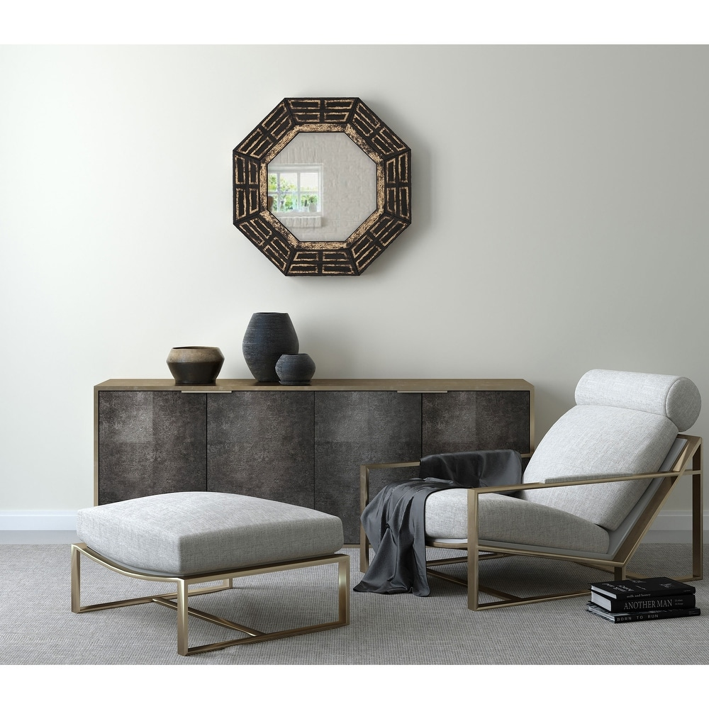 Gild Design Houseaztec Wood Framed Wall Mirror 30 X 30 30 X 30 Black Gold Dailymail