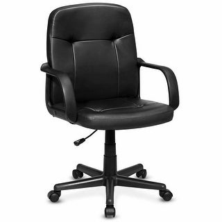 Costway Ergonomic Mid-Back Executive Office Chair Swivel Computer Desk Task Chair New