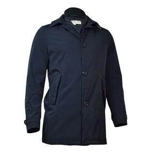 MICHAEL Michael Kors Men's Hampton Raincoat 36R, Black - 36 r