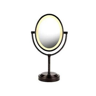 Conair DQ3064B Oval Double-Sided Lighted Mirror