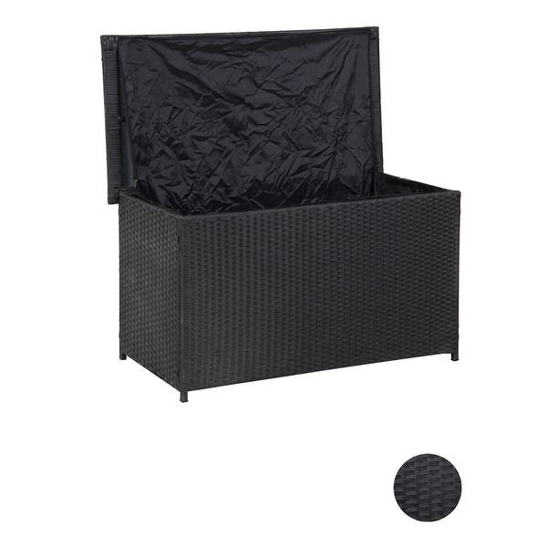 Grearden Outdoor Wicker Patio Storage Deck Box For Cushions Pillows Overstock 31584888