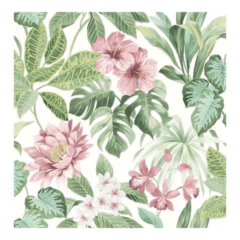 Josefa light green Tropical Wallpaper - 20.5 x 396 x 0.025