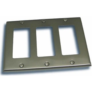 """Residential Essentials 10834 4.5"""" X 6.375"""" Triple Rocker Switch Plate Featuring a Rustic / Country Theme"""