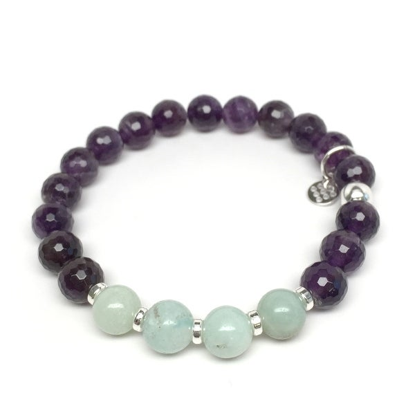 "Purple Amethyst Andy 7"" Bracelet"