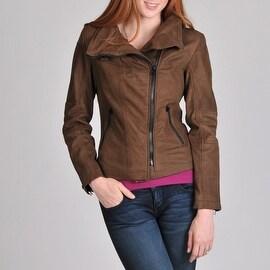 Buffalo Women's Asymmetrical Zip Leather Jacket