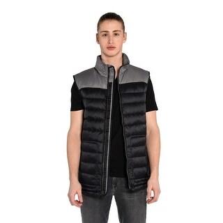 Asher Vest in Charcoal And Black