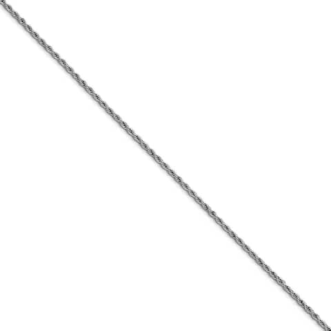 Chisel Stainless Steel 2.3mm 30 Inch Rope Chain (2.3 mm) - 30 in