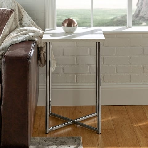 Silver Orchid Ipsen Square Side Table